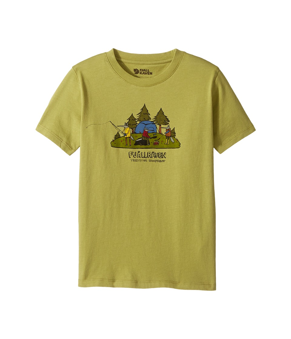 Fjallraven Kids - Camping Foxes T-Shirt (Toddler/Little Kids/Big Kids) (Willow) Boy's T Shirt