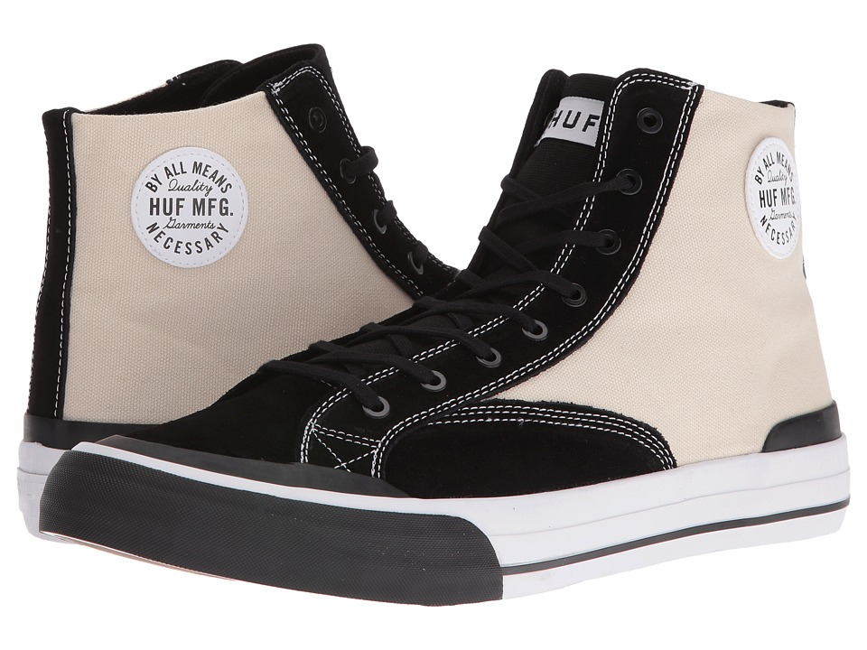 HUF - Classic Hi (Vintage White/Black) Men's Skate Shoes