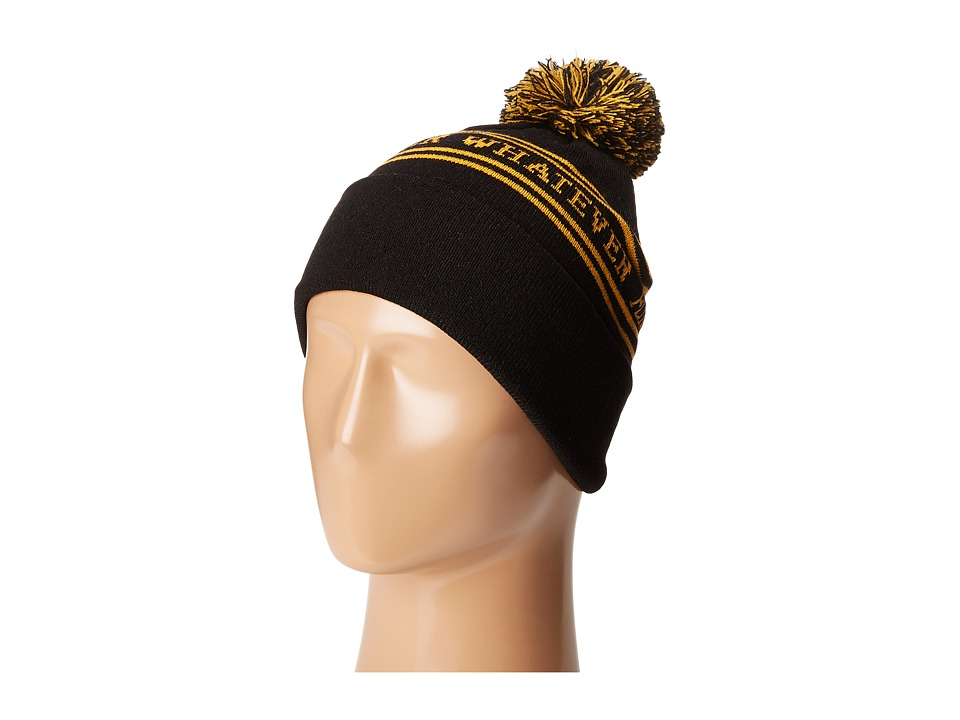 HUF - Forever Whatever Pom Beanie (Black) Beanies