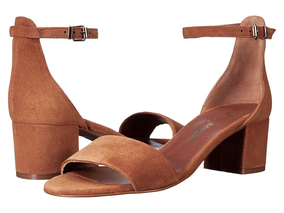Free People Marigold Block Heel (Taupe) High Heels