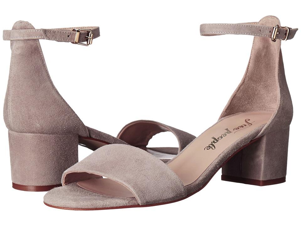 Free People Marigold Block Heel (Grey) High Heels