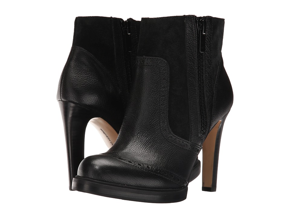 French Connection - Berta (Black Tumbled Leather) Women's Shoes