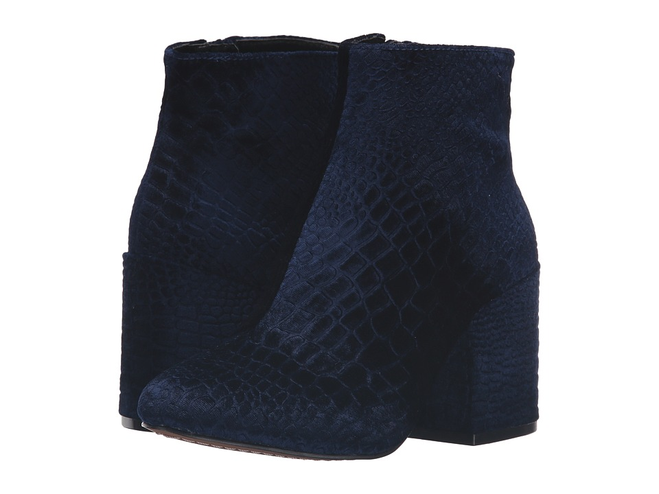 French Connection - Dilyla (Navy Croco Velvet) Women's Shoes