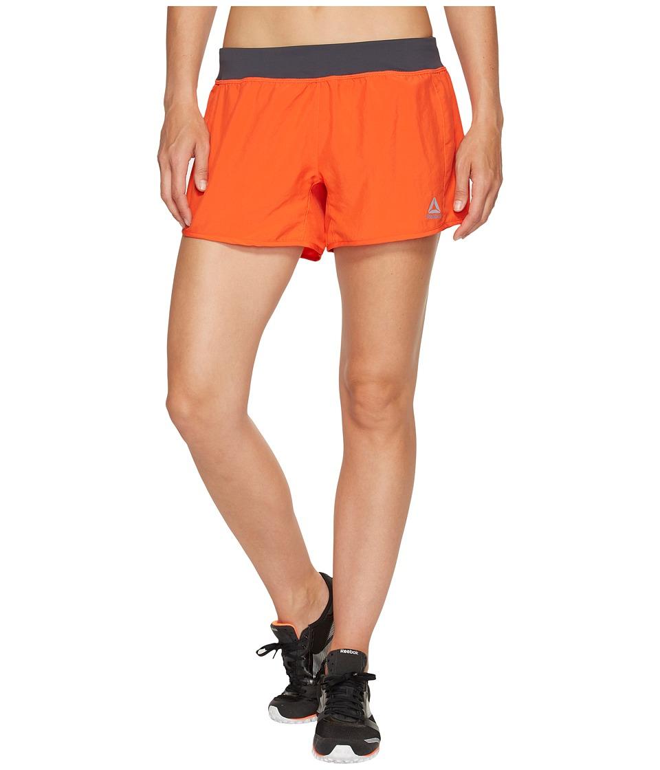 Reebok - 4 Knit Woven Shorts (Carotene) Women's Shorts
