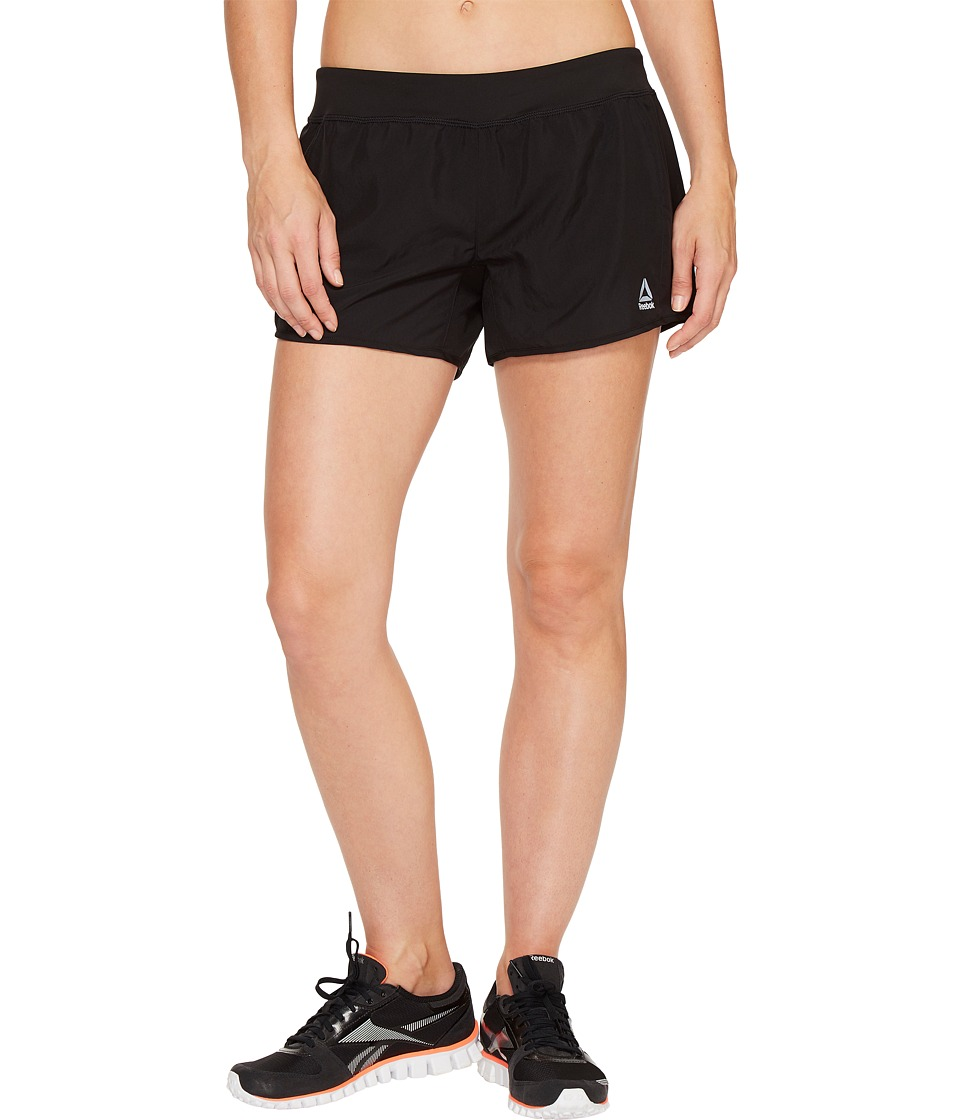 Reebok - 4 Knit Woven Shorts (Black) Women's Shorts