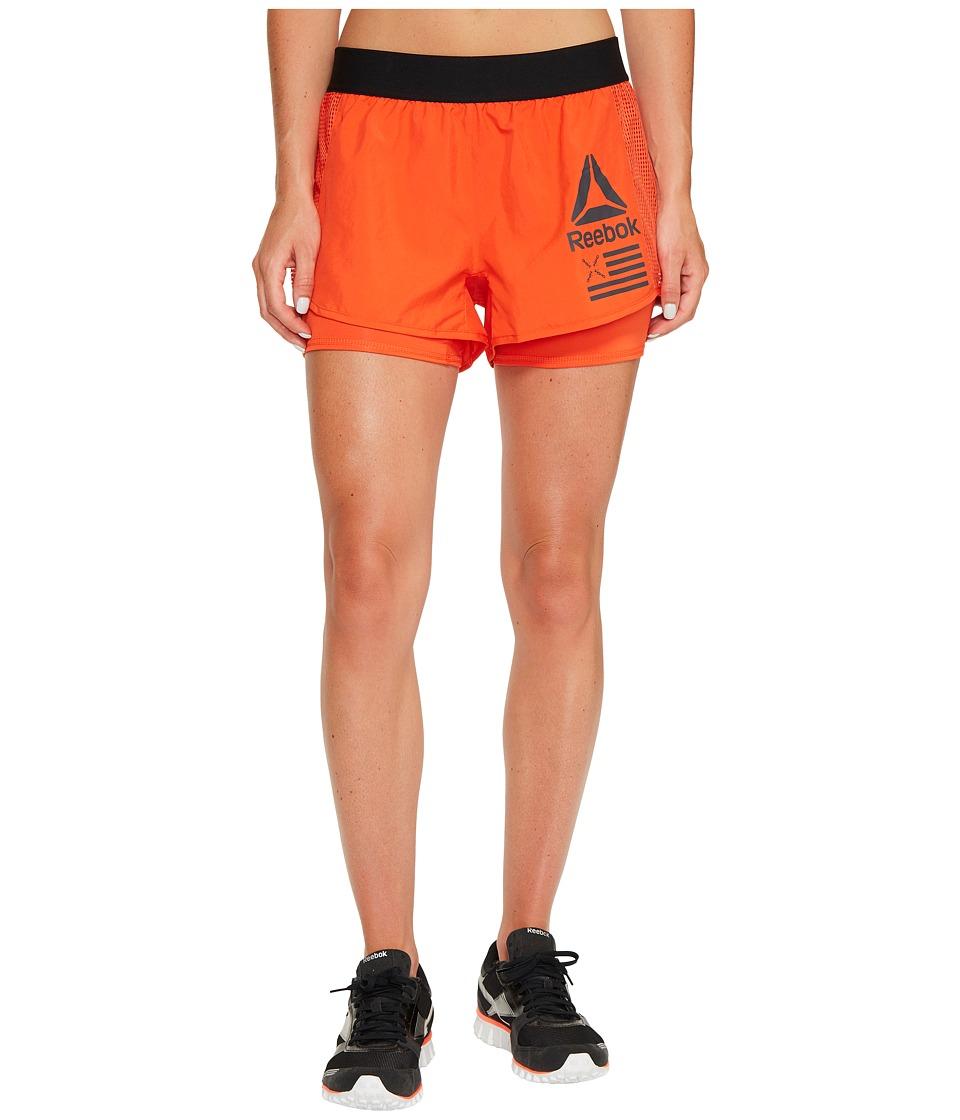 Reebok - 2-in-1 Shorts (Carotene) Women's Shorts
