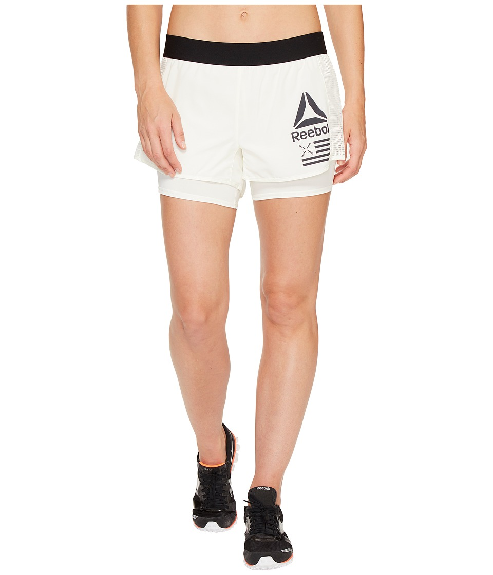 Reebok - 2-in-1 Shorts (Chalk) Women's Shorts