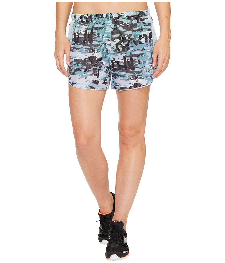 Reebok - Running Essentials 4in Woven Shorts Printed (Gable Grey) Women's Shorts