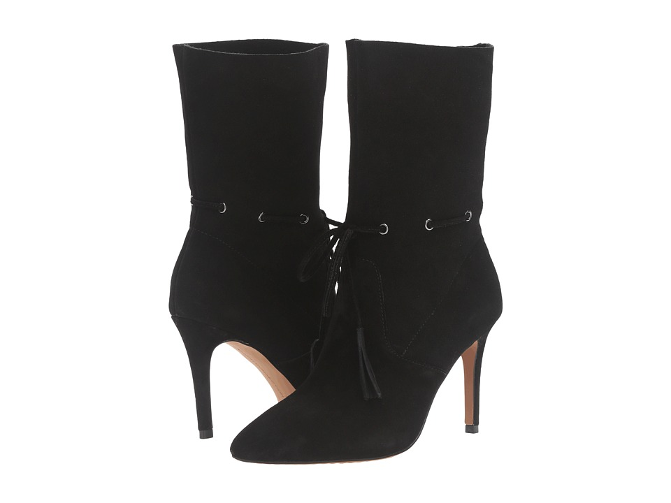 French Connection - Rowdy (Black Split Suede) Women's Shoes
