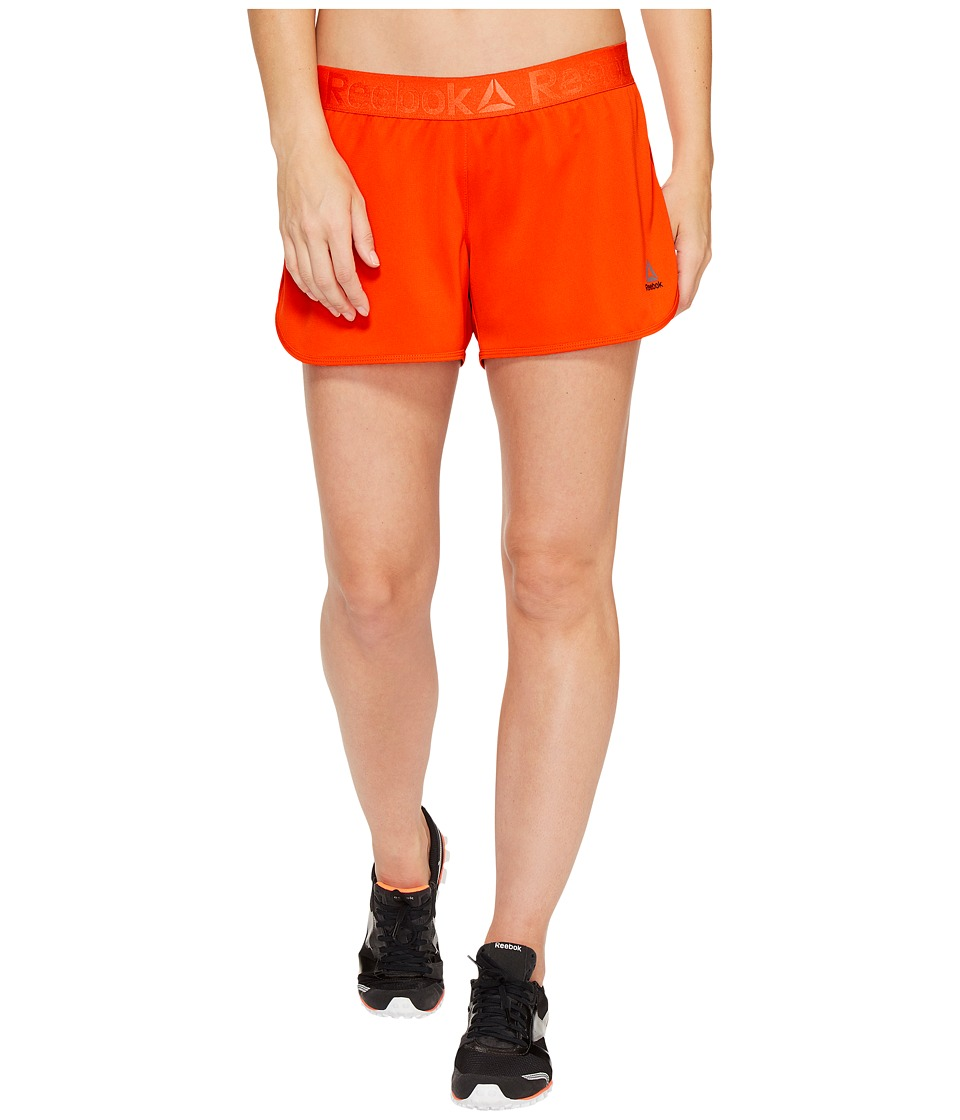 Reebok Workout Ready Woven Shorts (Carotene) Women