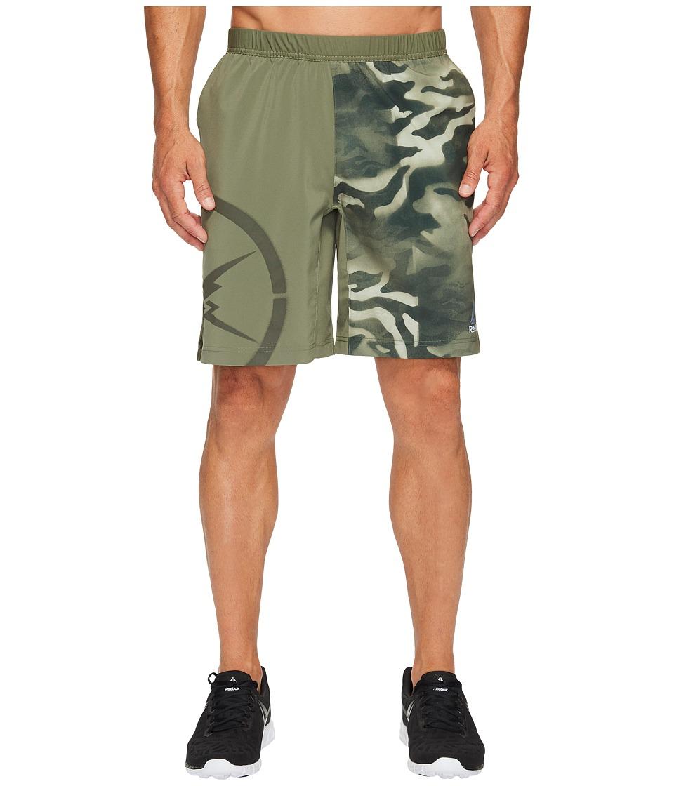 Reebok - Camo Speed Shorts (Hunter Green) Men's Shorts