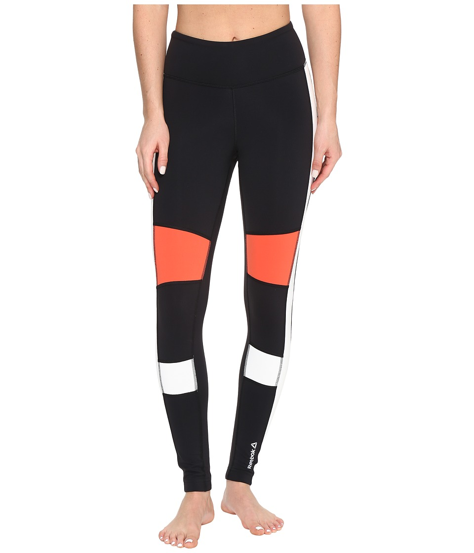 Reebok - Speedwick Color Block Tights (Black) Women's Workout