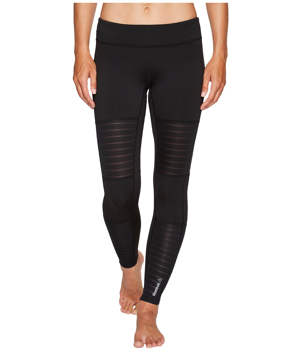 Reebok - Dance Mesh Tights (Black) Women's Workout