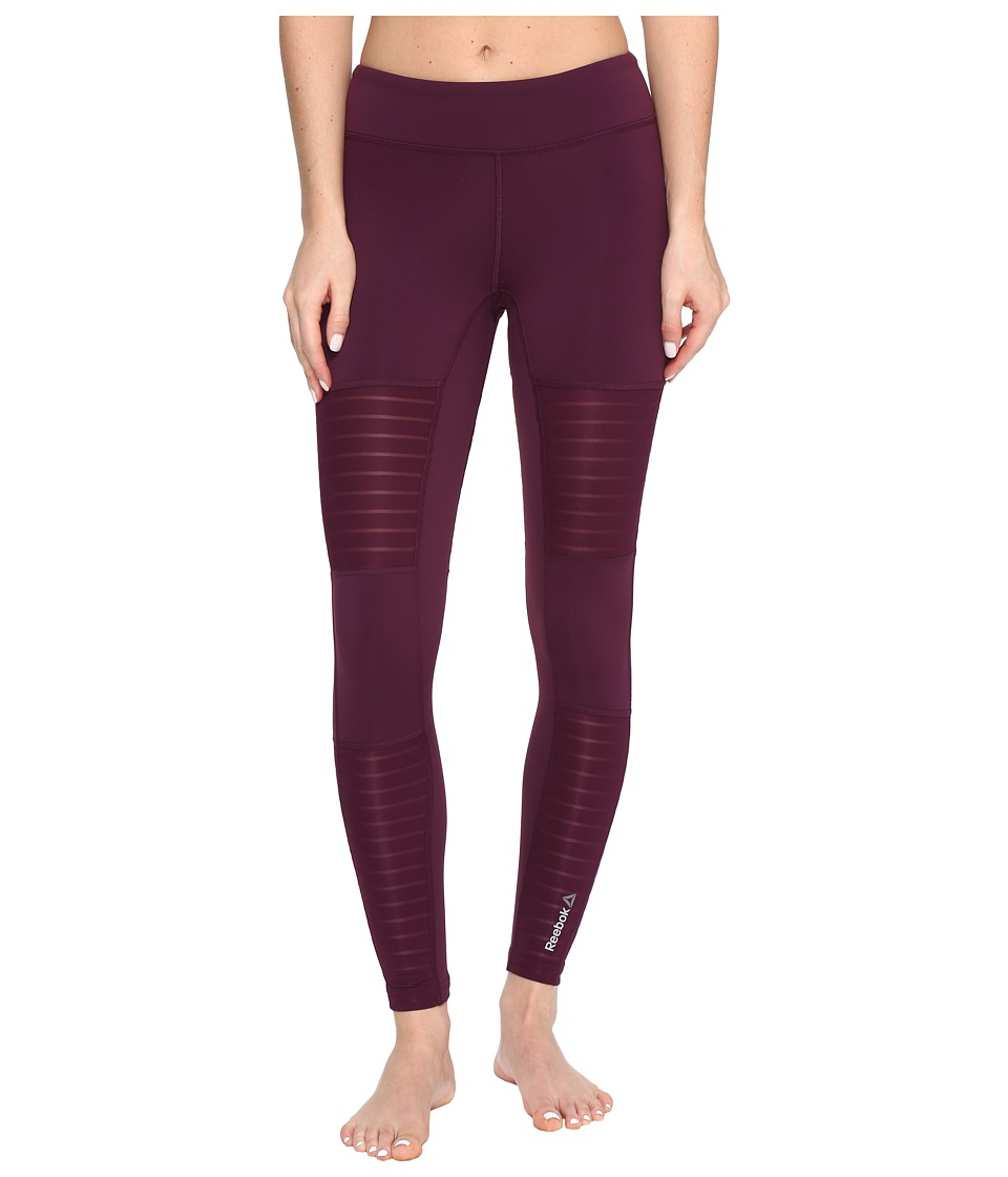 Reebok - Dance Mesh Tights (Pacific Purple) Women's Workout