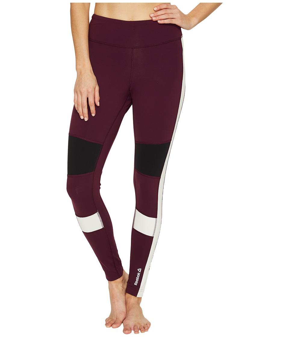 Reebok - Speedwick Color Block Tights (Pacific Purple) Women's Workout