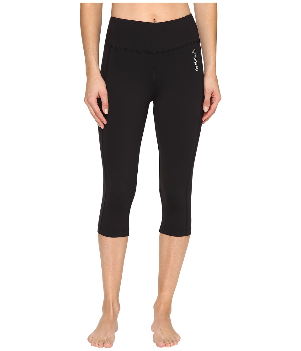 Reebok - Workout Ready Pant Program Capris (Black) Women's Capri