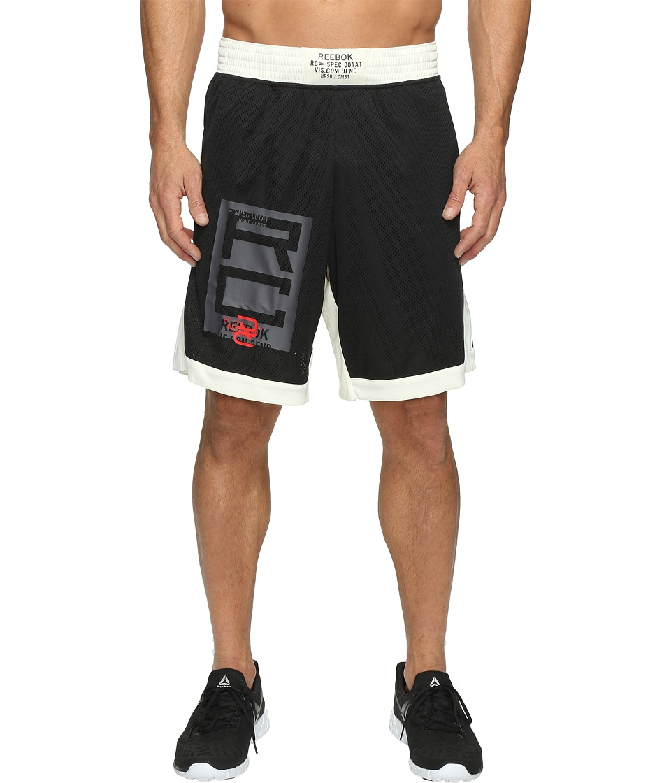 Reebok - Combat Boxing Shorts (Black) Men's Shorts