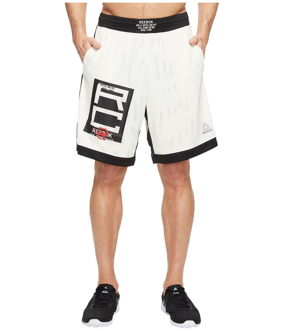 Reebok - Combat Boxing Shorts (Classic White) Men's Shorts