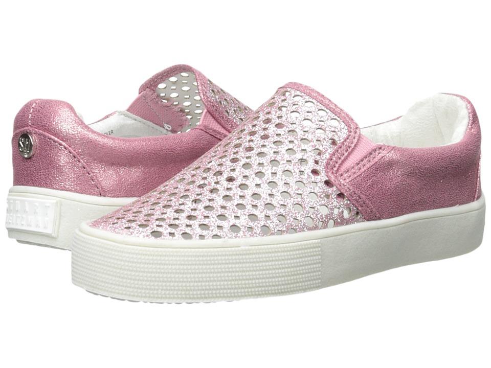 Stuart Weitzman Kids - Vance Slider (Little Kid/Big Kid) (Pink Glitter) Girl's Shoes