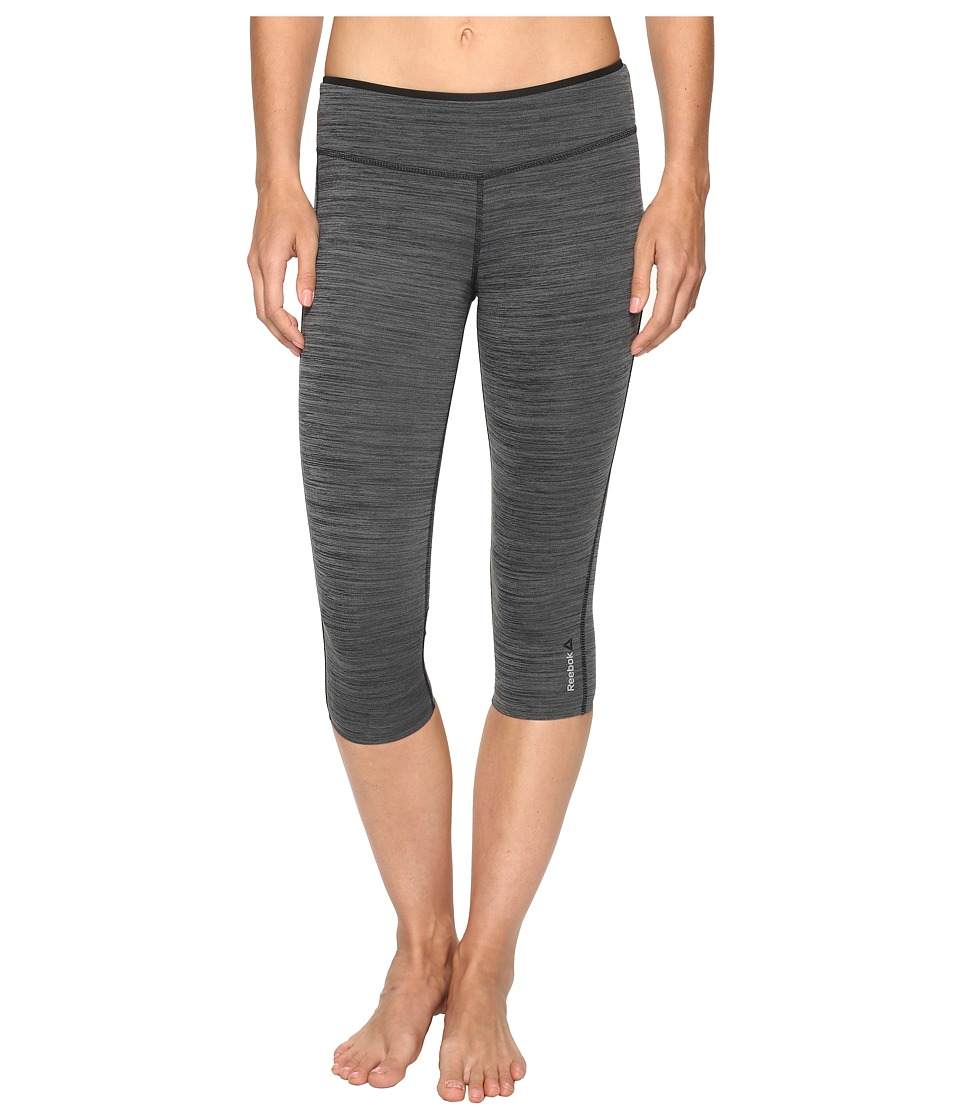 Reebok - Workout Ready Reversible Capris (Black/Alloy) Women's Capri