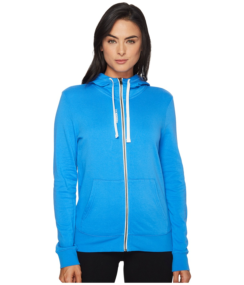 Reebok - Elements French Terry Full Zip Hoodie (Echo Blue) Women's Sweatshirt