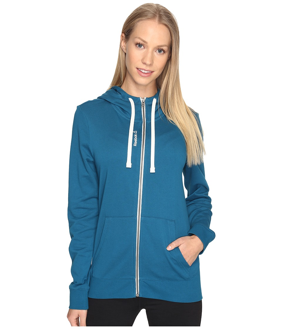 Reebok Elements French Terry Full Zip Hoodie (Emerald Tide) Women