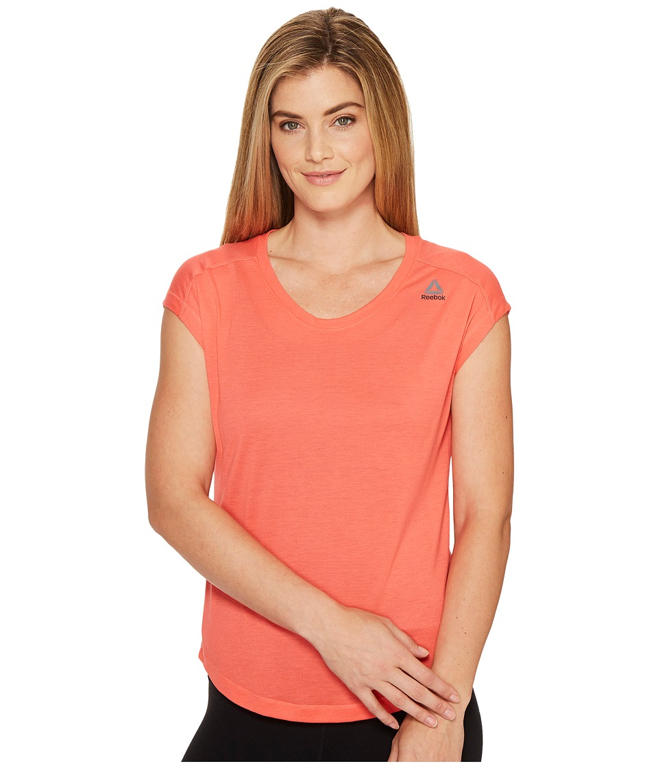 Reebok - Workout Ready Supremium Tee (Fire Coral) Women's T Shirt