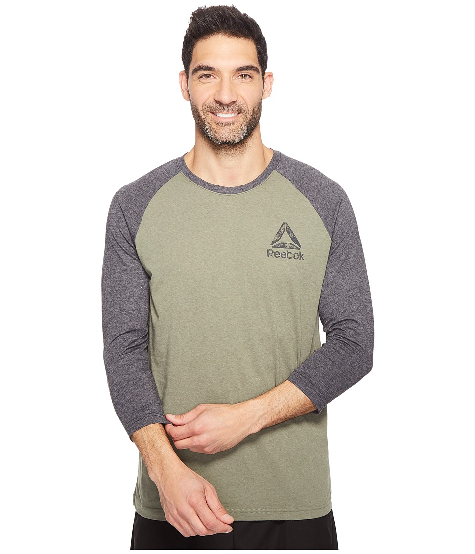 Reebok - Delta Baseball Tee (Hunter Green/Black) Men's T Shirt