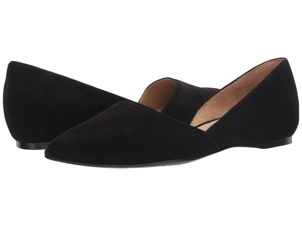 Naturalizer - Samantha (Black Suede) Women's Flat Shoes