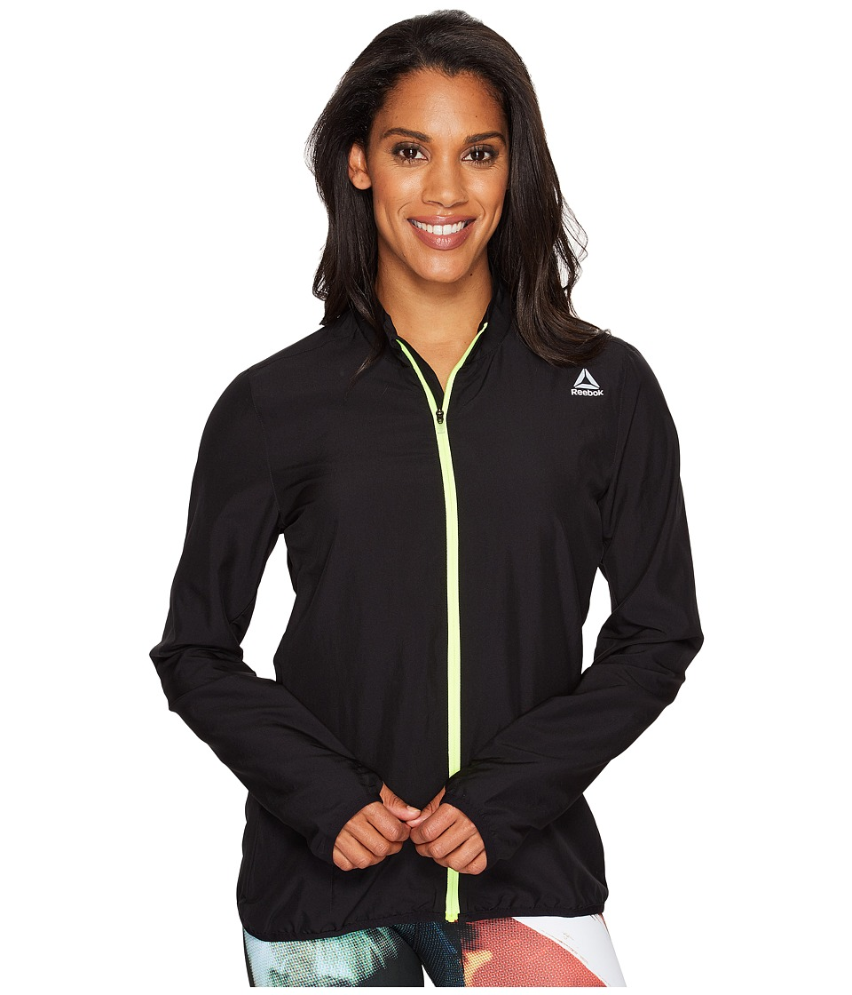Reebok - Running Essentials Woven Jacket (Black 1) Women's Jacket