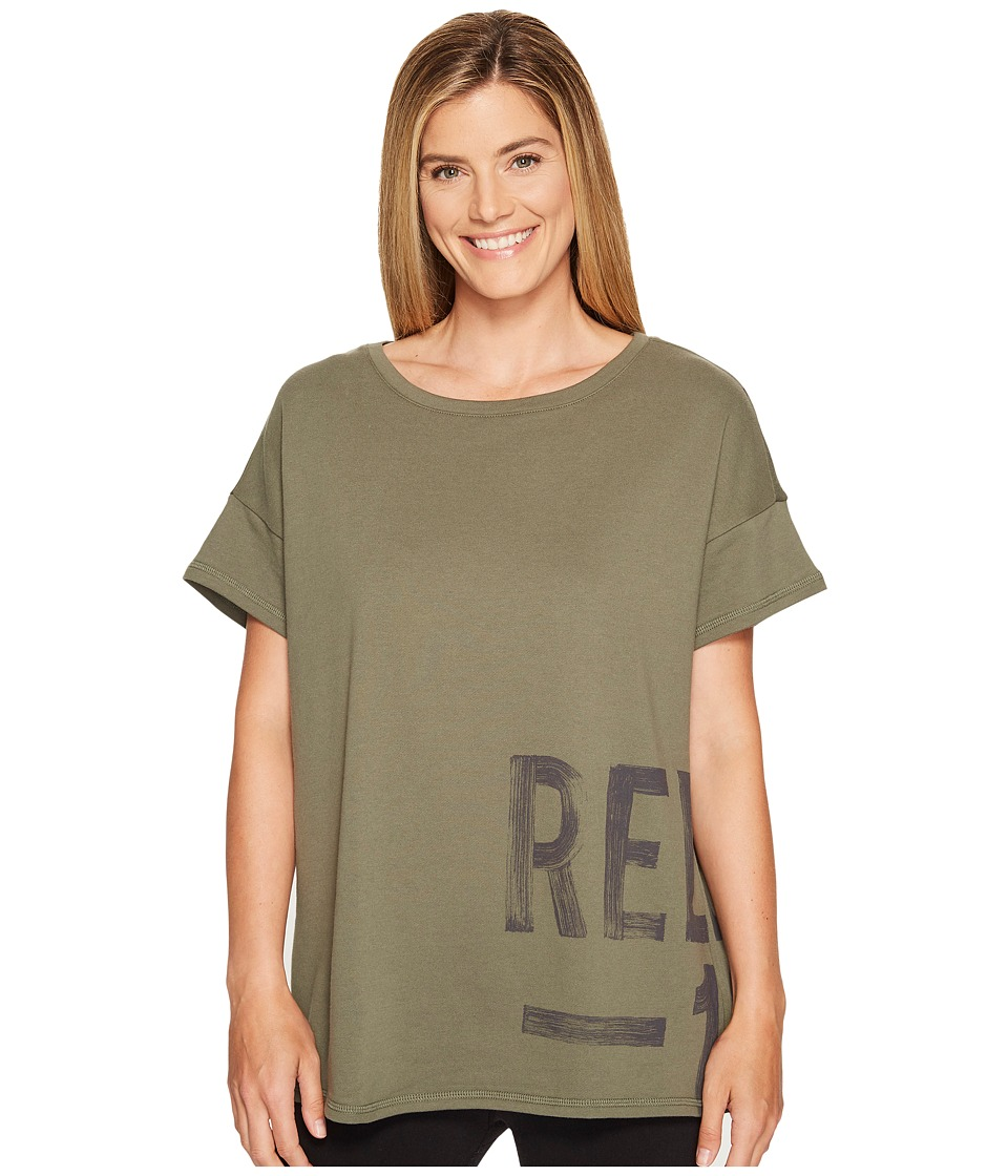 Reebok - S Faves Short Sleeve Shirt (Hunter Green) Women's Clothing