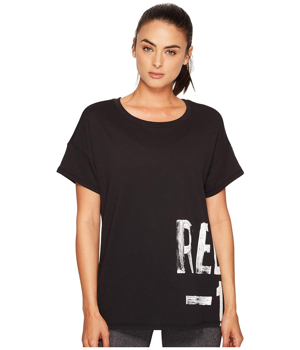 Reebok - S Faves Short Sleeve Shirt (Black) Women's Clothing