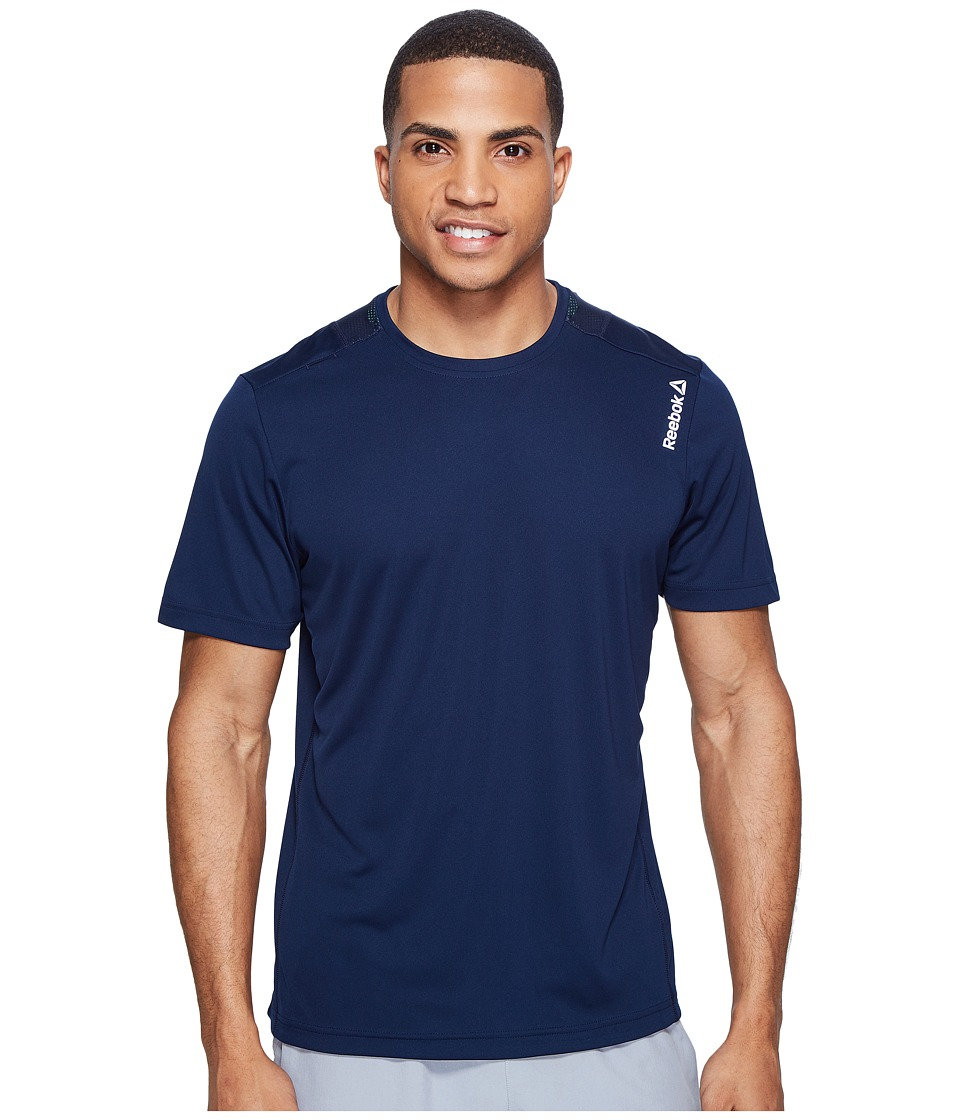 Reebok - Running Essentials Short Sleeve Tee (Collegiate Navy) Men's T Shirt