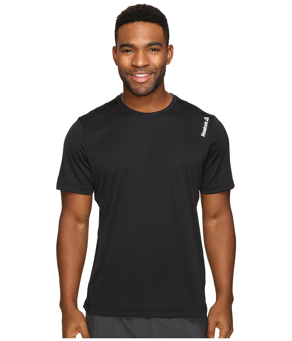 Reebok - Running Essentials Short Sleeve Tee (Black) Men's T Shirt