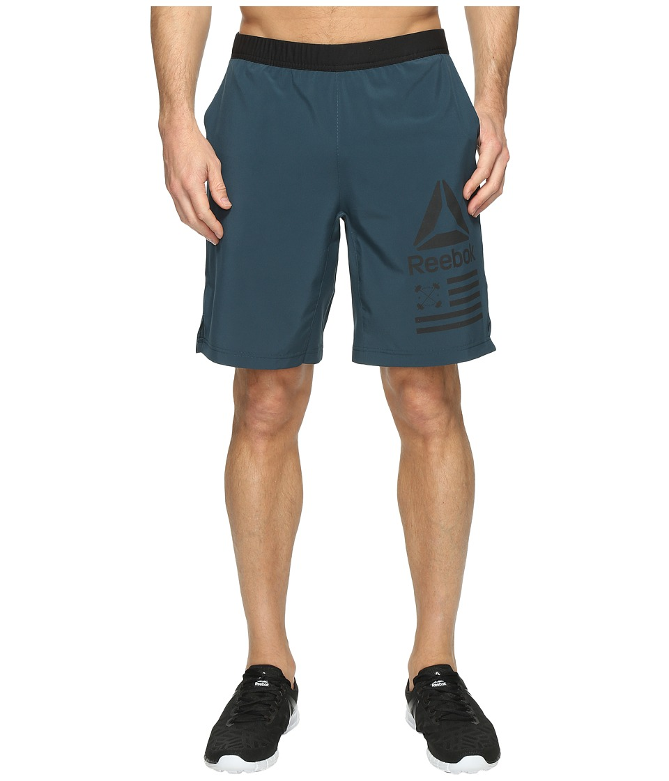 Reebok - Speed Shorts (Mineral Blue) Men's Shorts