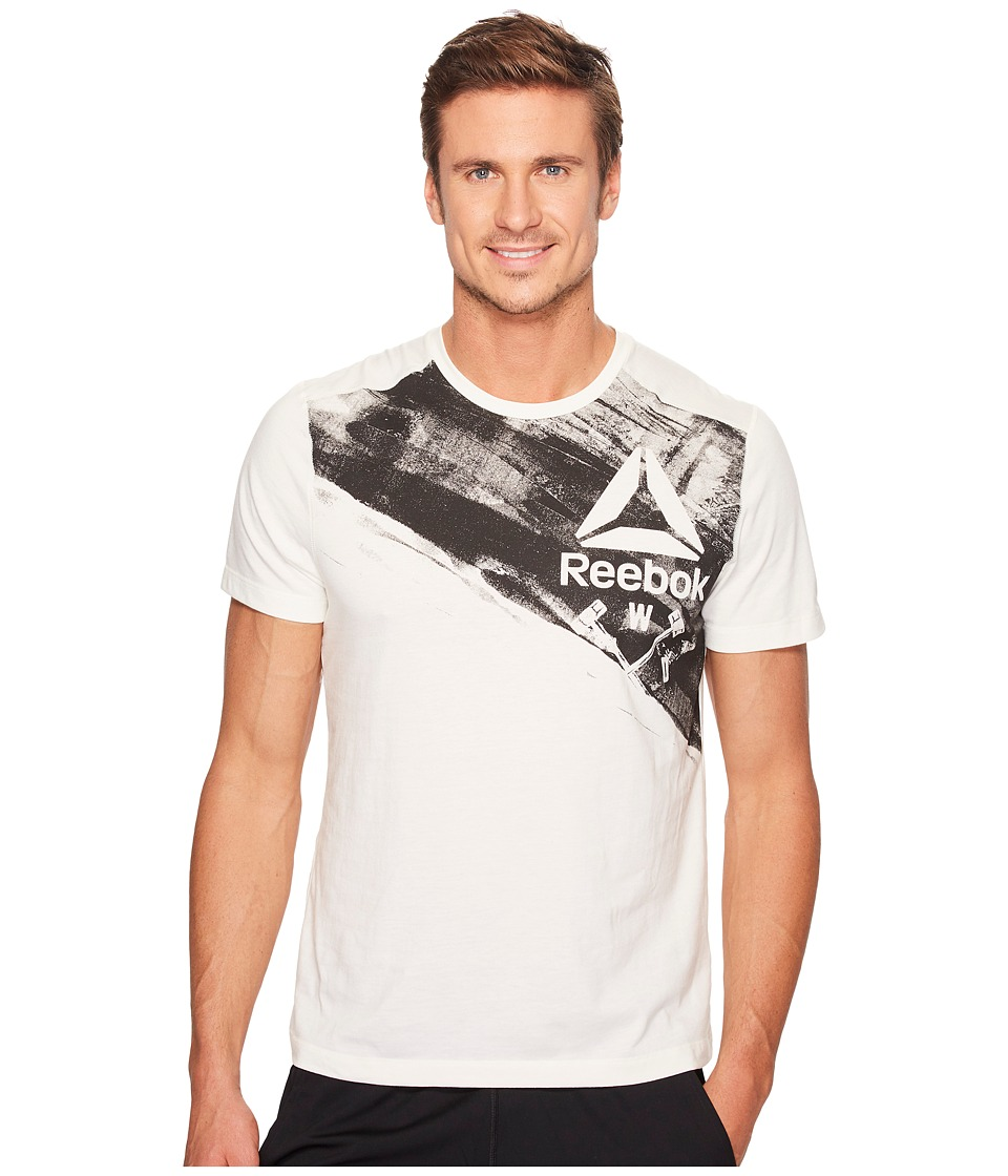 Reebok - Speedwick Blend Hand Crafted Short Sleeve Top (Chalk) Men's Clothing