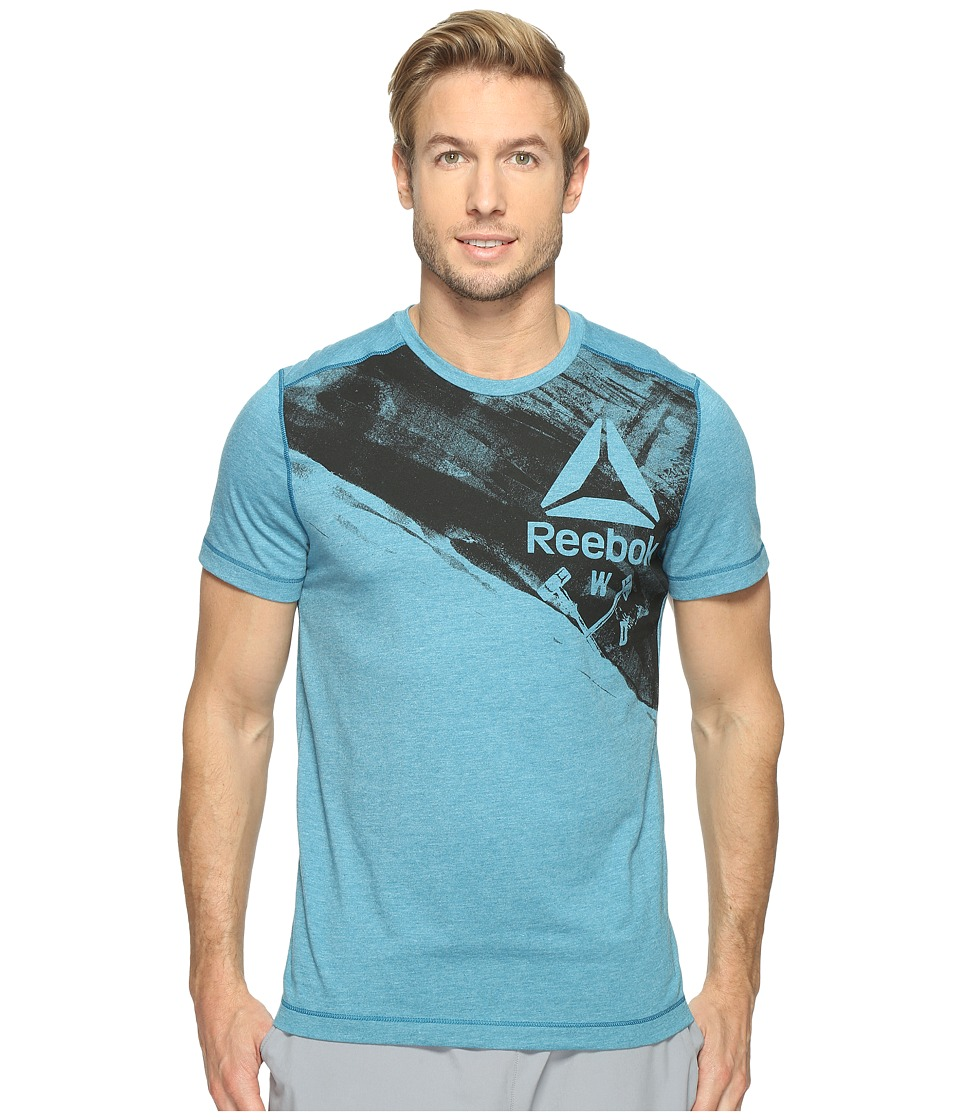 Reebok - Speedwick Blend Hand Crafted Short Sleeve Top (Emerald Tide) Men's Clothing
