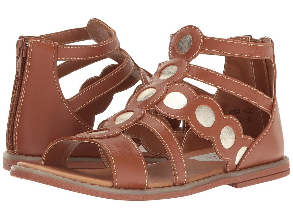 Umi Kids - Meda II (Little Kid) (Saddle Tan) Girls Shoes