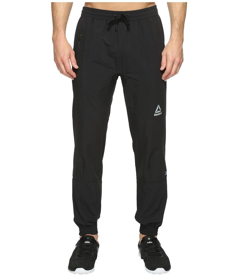 Reebok - Stretch Woven Jogger (Black) Men's Casual Pants