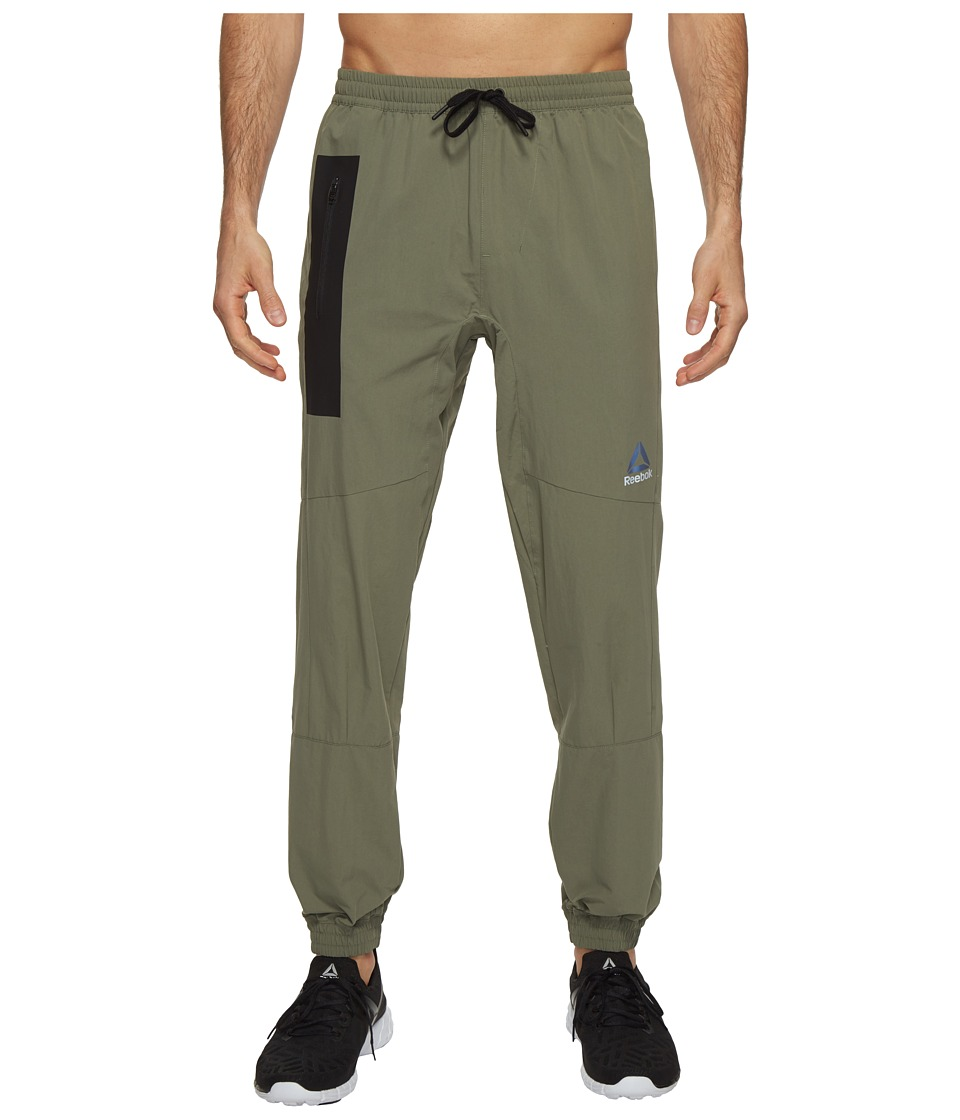 Reebok - Stretch Woven Jogger (Hunter Green) Men's Casual Pants