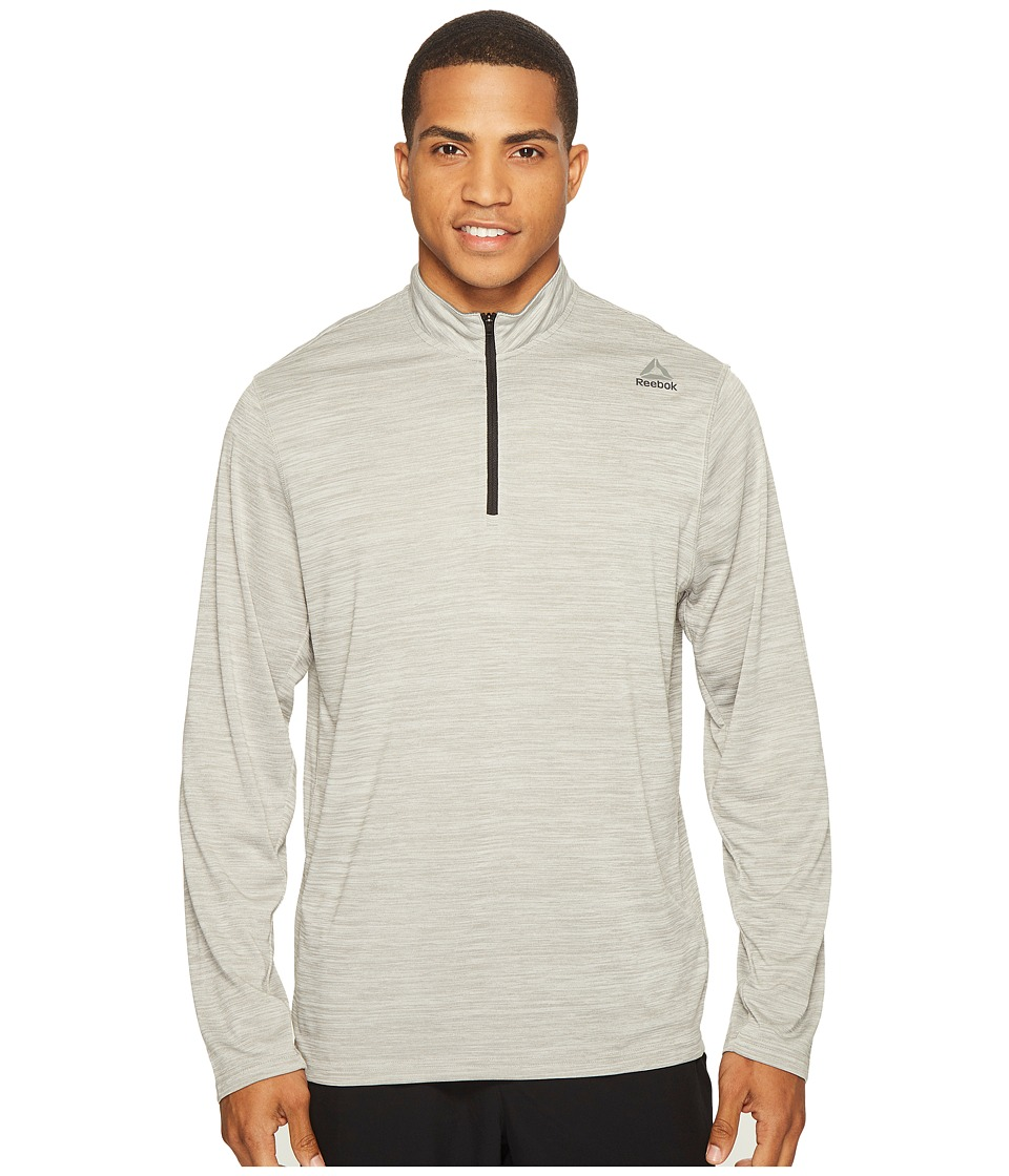 Reebok US Workout Ready 1/4 Zip Melange (Medium Grey Heather Solid Grey) Men