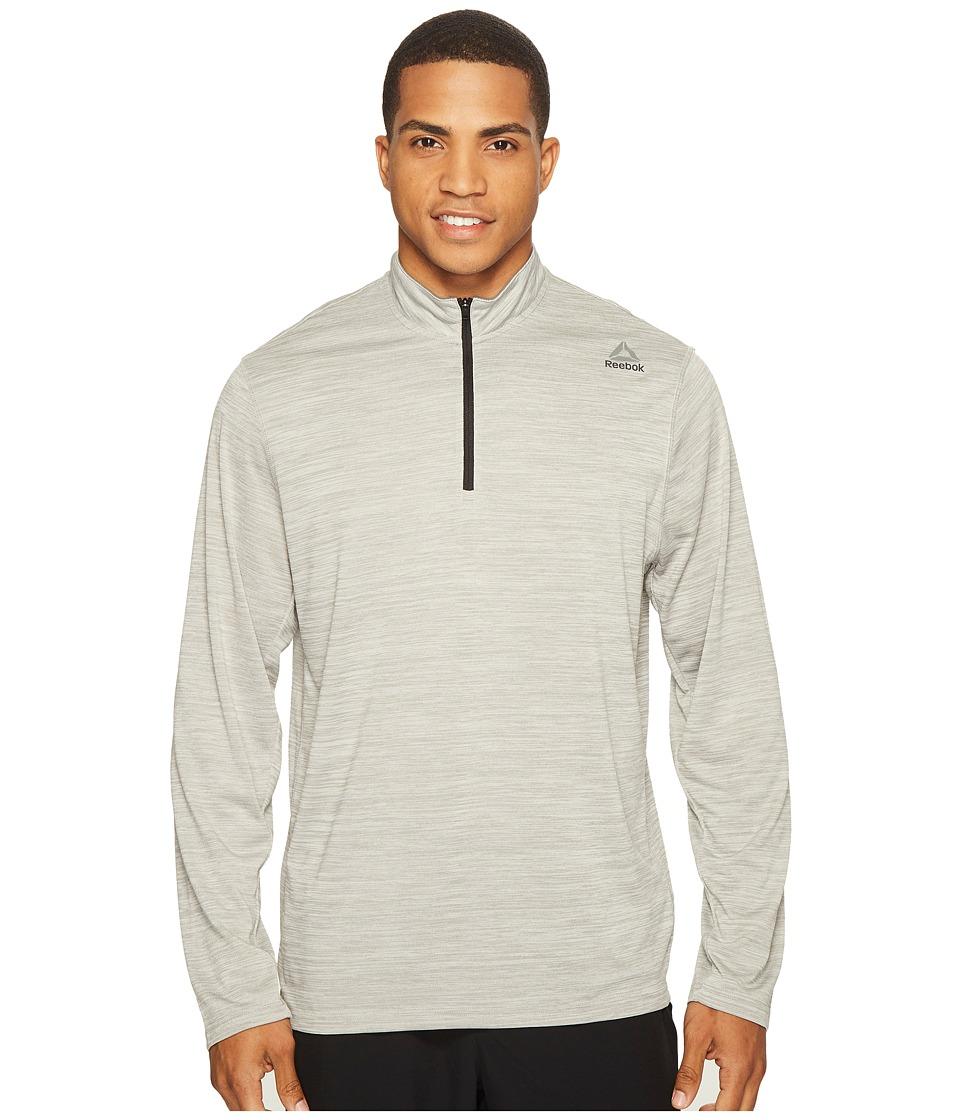 Reebok - US Workout Ready 1/4 Zip Melange (Medium Grey Heather Solid Grey) Men's Clothing