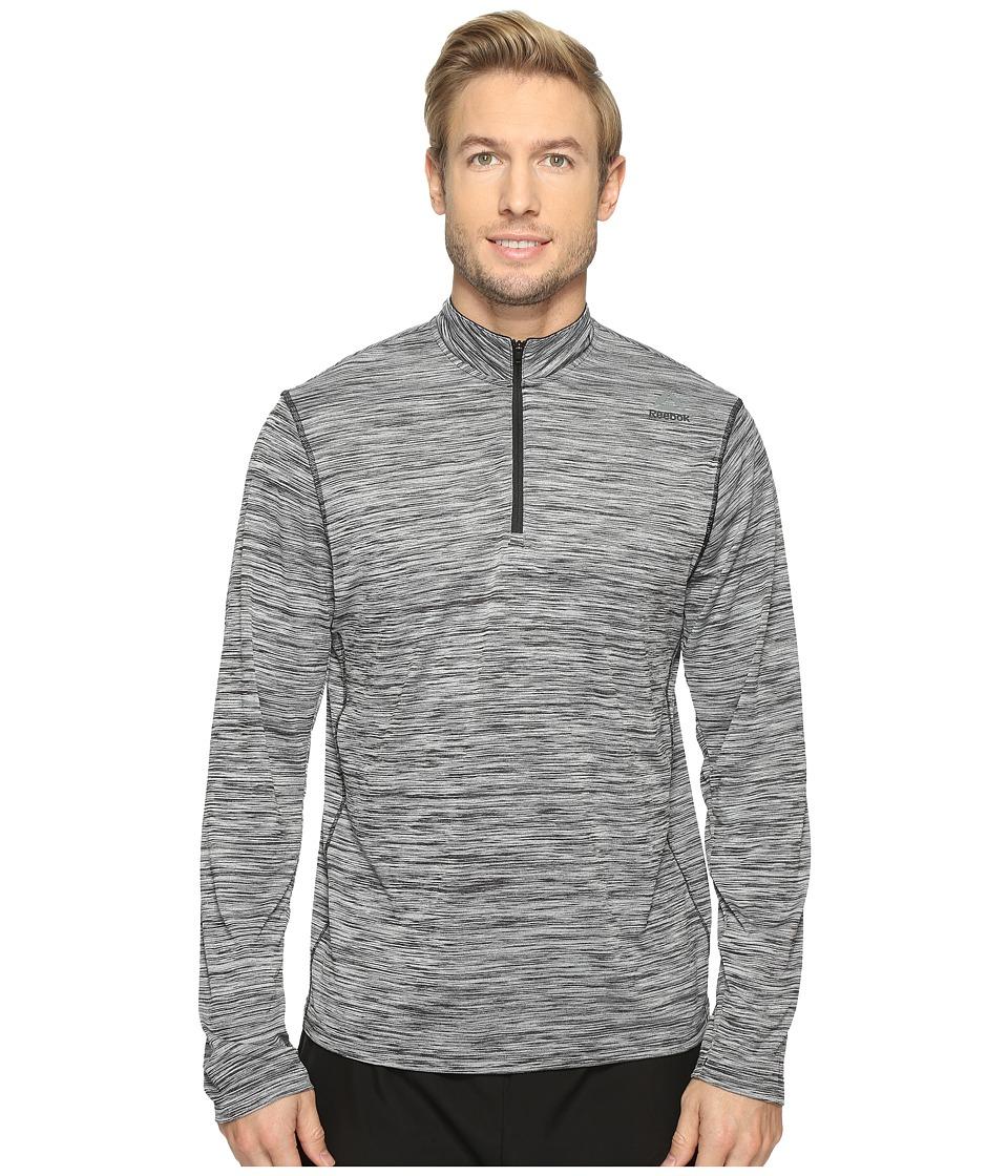 Reebok - US Workout Ready 1/4 Zip Melange (Black) Men's Clothing