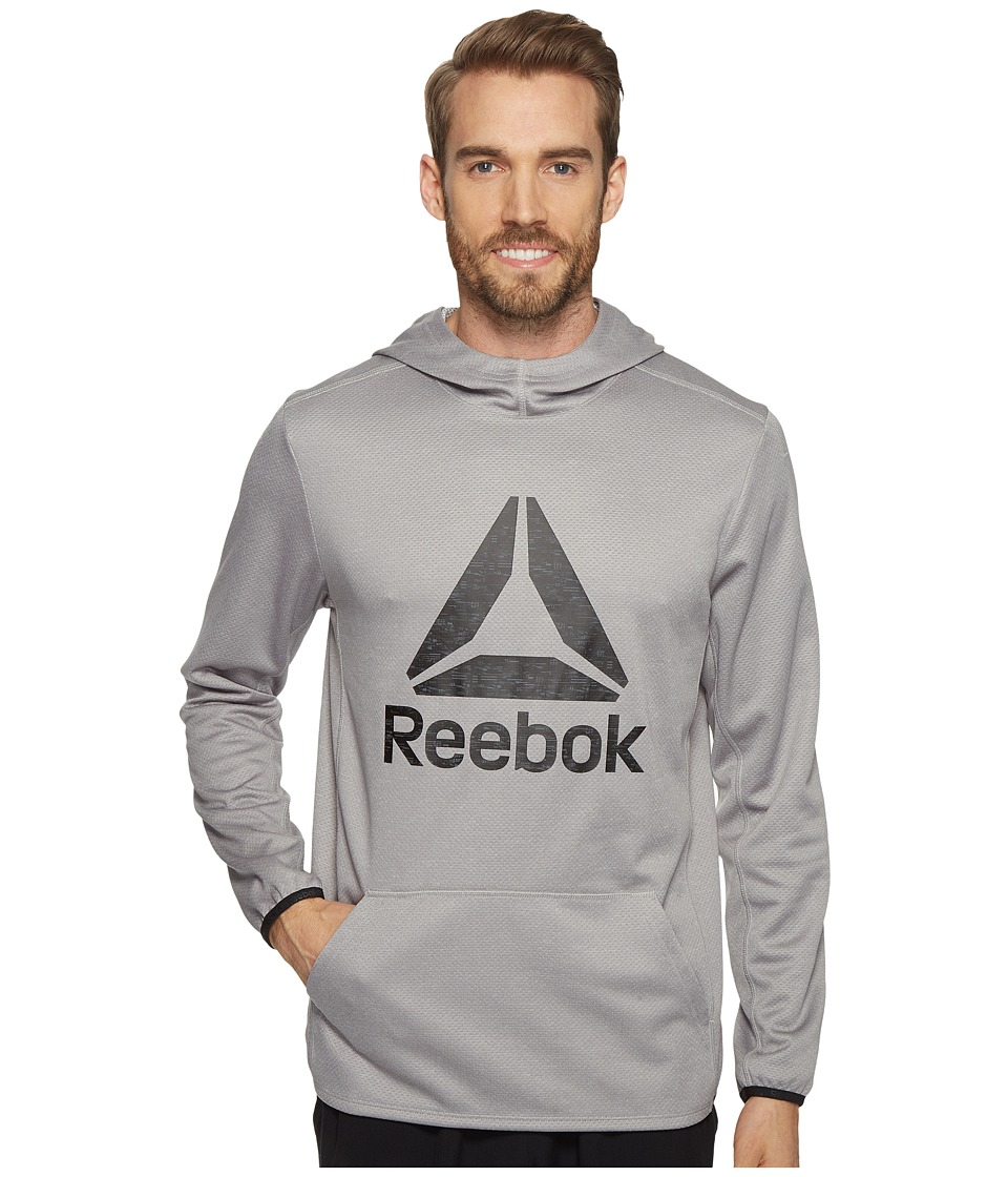 Reebok US Workout Ready Oth Graphic Hoodie (Medium Grey Heather Solid Grey) Men