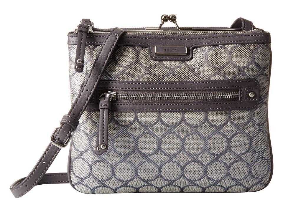 Nine West - 9 Jacquard Crossbody (Dark Grey Lurex) Cross Body Handbags