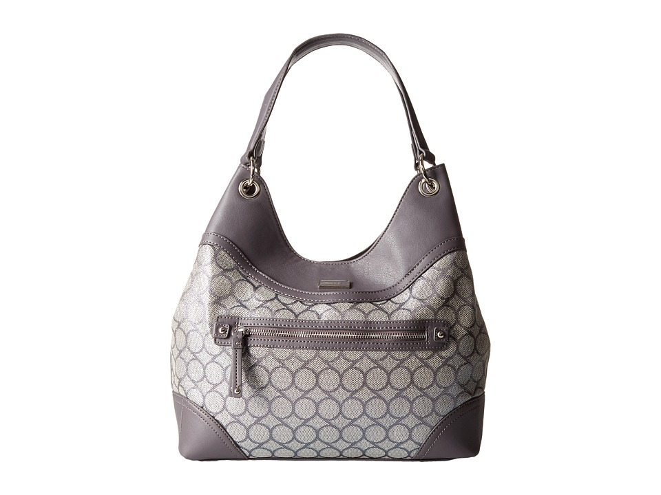 Nine West - 9S Jacquard Shoulder Bag (Dark Grey Lurex) Shoulder Handbags