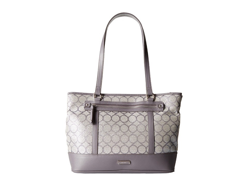 Nine West - 9S Jacquard Tote (Dark Grey Lurex) Tote Handbags