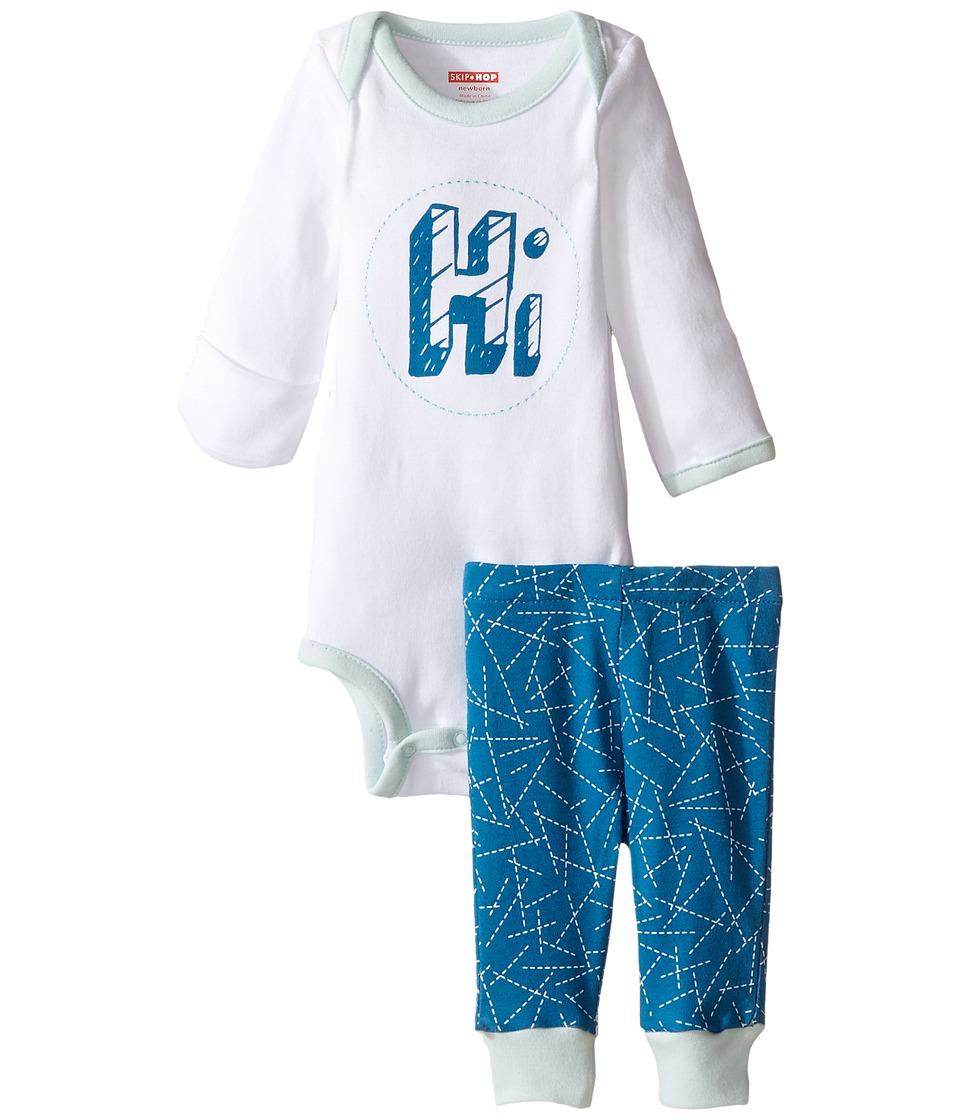 Skip Hop - Baby Says Long Sleeve Bodysuit Pants (Infant) (Hi) Kid's Active Sets