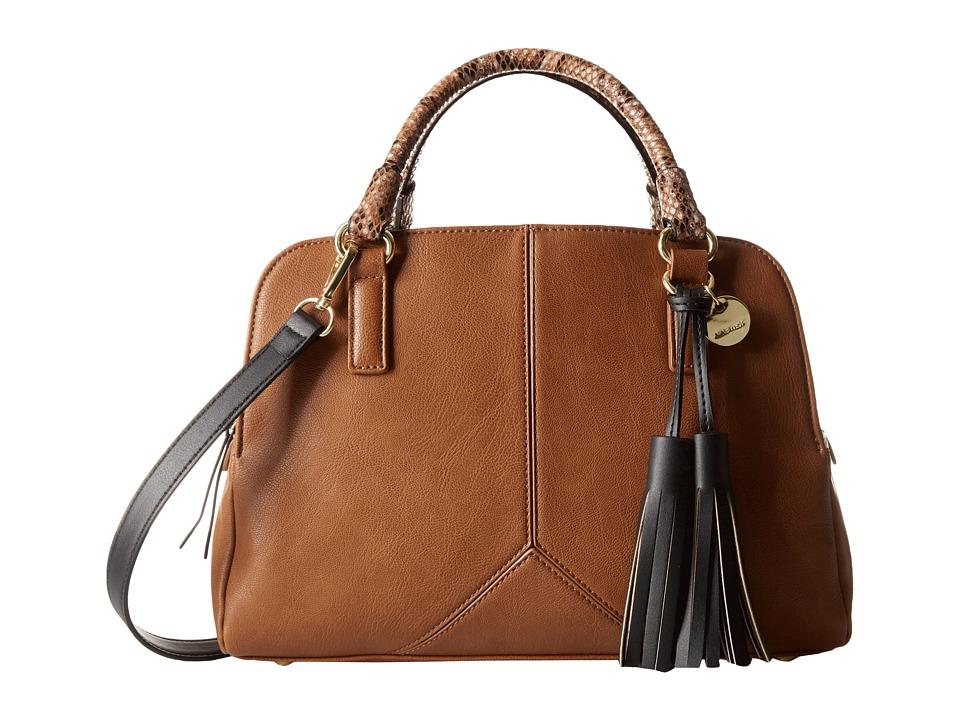 Nine West - Tasseled and Tied Satchel (Tobacco) Satchel Handbags