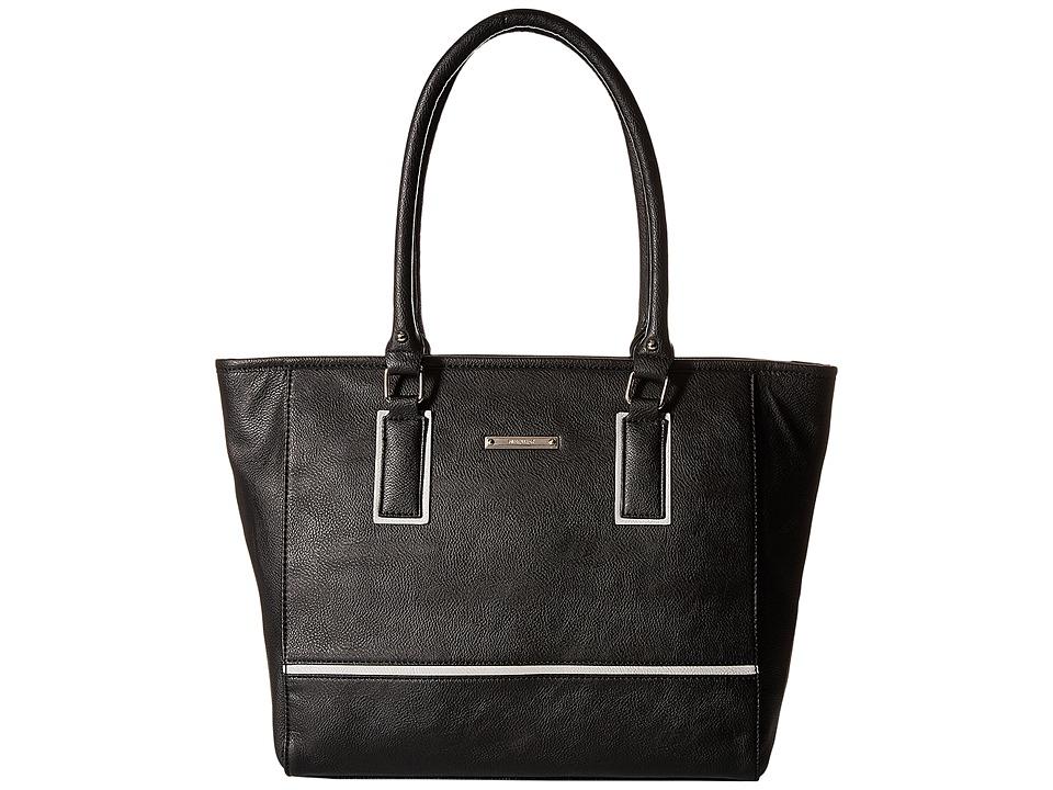 Nine West - Autumnal Tote (Black/Light Cobblestone) Tote Handbags